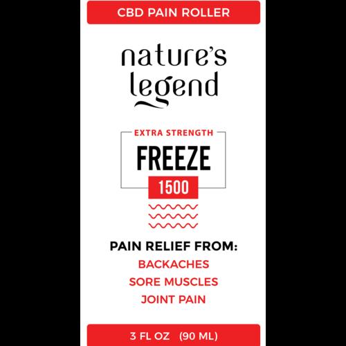 CBD Freeze Roller 1500MG Label