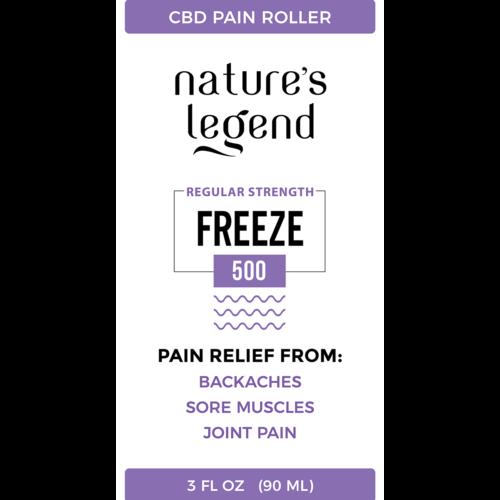 CBD Freeze Cream 500MG Label