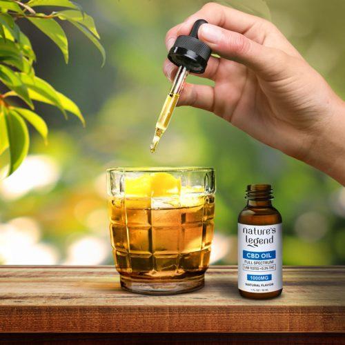 CBD Tincture Oil Full Spectrum in Tea